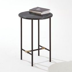 Trendway Marble Top Side Table La Redoute Interieurs - Coffee Tables & Side Tables