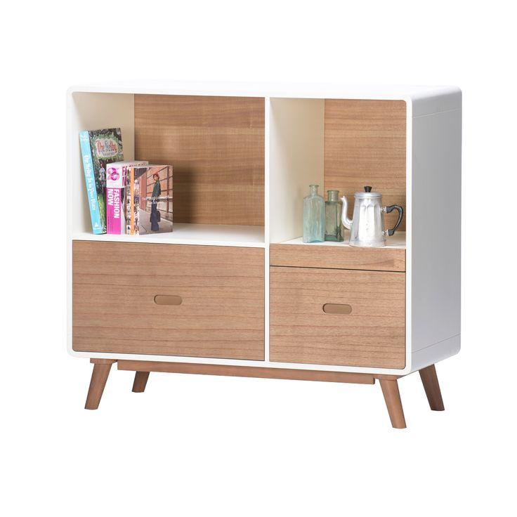 Monpezat Danish Style Storage Cabinet - Natural / Warm White