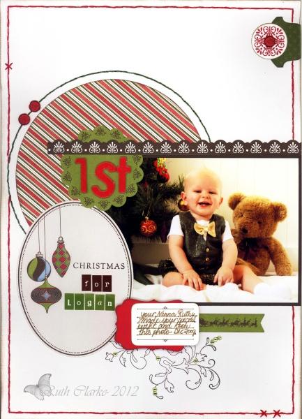 1st Christmas LO - Ruth Clark