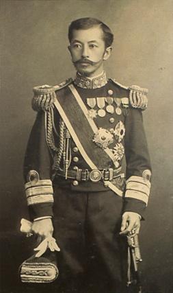 Japanese Imperial family's antique photograph. Imperial prince Arisugawanomiya Takehito. 1862-1913. Edo-era / Meiji-era / Taisyo-era.