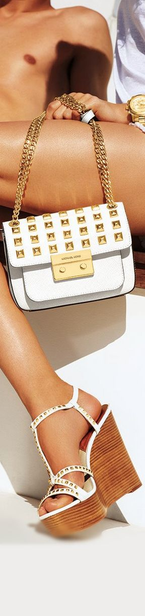 Michael Kors ~ White Flap Bag and Sandals