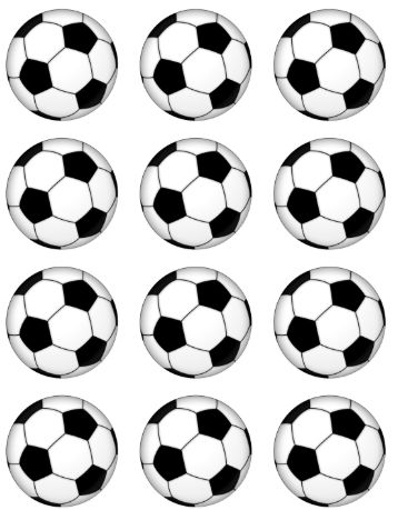 Soccer Ball Cup Cake Toppers