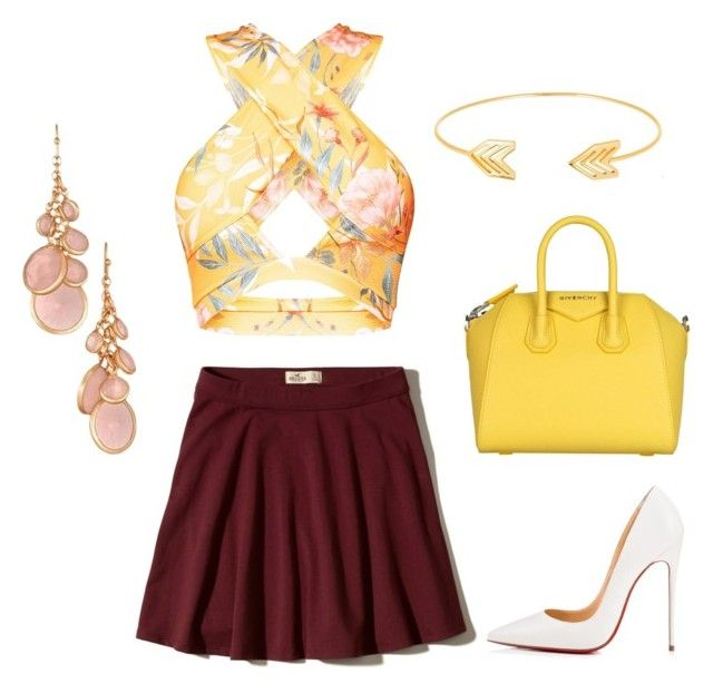 """""""Untitled #17"""" by sarii-syafitri on Polyvore featuring Hollister Co., Christian Louboutin, Givenchy, Lord & Taylor and Avon"""