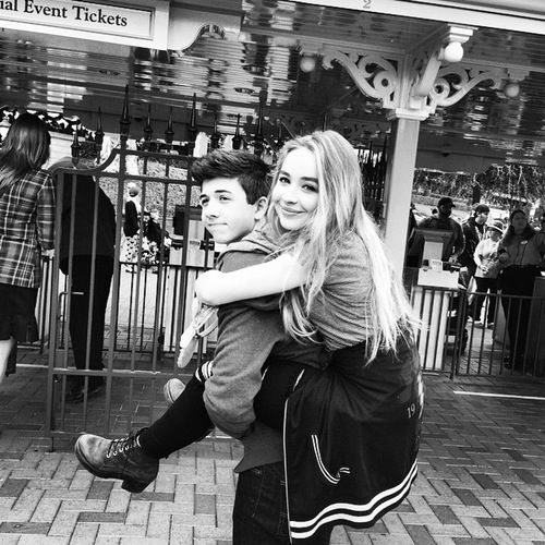 Sabrina carpenter and bradley steven perry in disneyland