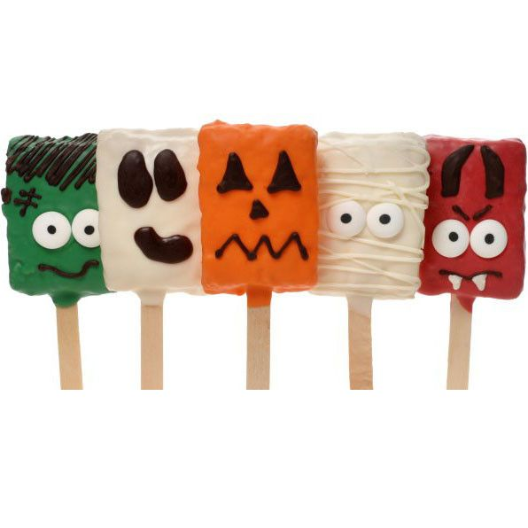 """Halloween Crispy Rice Bars are a perfect way to """"witch"""" them a Happy Halloween…"""