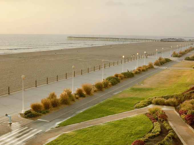 The virginia beach boardwalk is one of the most popular for Fun road trip destinations east coast