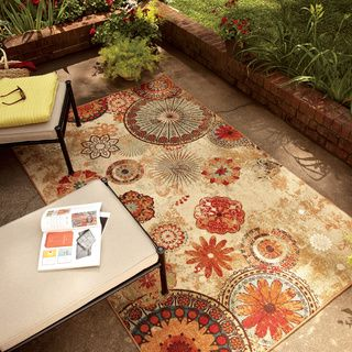 buy cheap rugs here... Indoor/Outdoor Medallion Multi Rug (8' x 10')