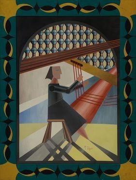 Guido Somarè  (Milano, 1923 - 2003) : Omaggio a Depero.  - Asta Design, Grafica - Libreria Antiquaria Gonnelli - Casa d'Aste - Gonnelli Casa d'Aste
