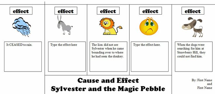 Printables Sylvester And The Magic Pebble Worksheets the magic ojays and cause effect on pinterest