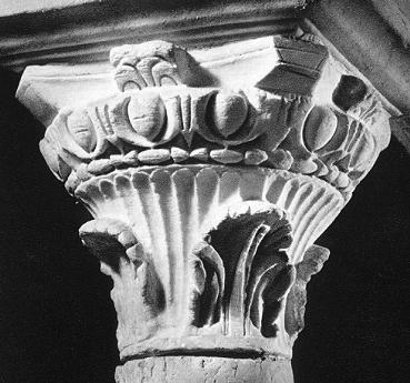 13- chapiteau colonne abbaye de Jouarre