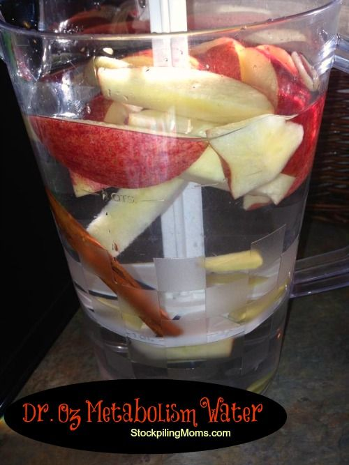 Apple Cinnamon Water - speed up your metabolism!