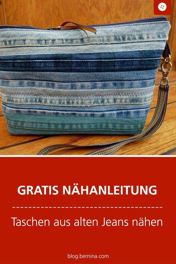 Alte Jeansnähte: Clutch,Taschenhüpfer und Co
