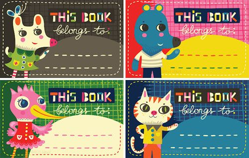 #DIY Free Printable back to school Bookplates images by Helen #Dardik