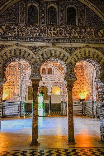 Moorish Palace inside the Royal Alcazars of Sevilla - Spain