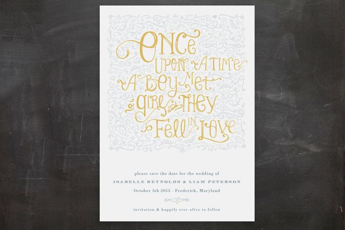 Once Upon Save the Date Postcards by Erin Pescetto at minted.com