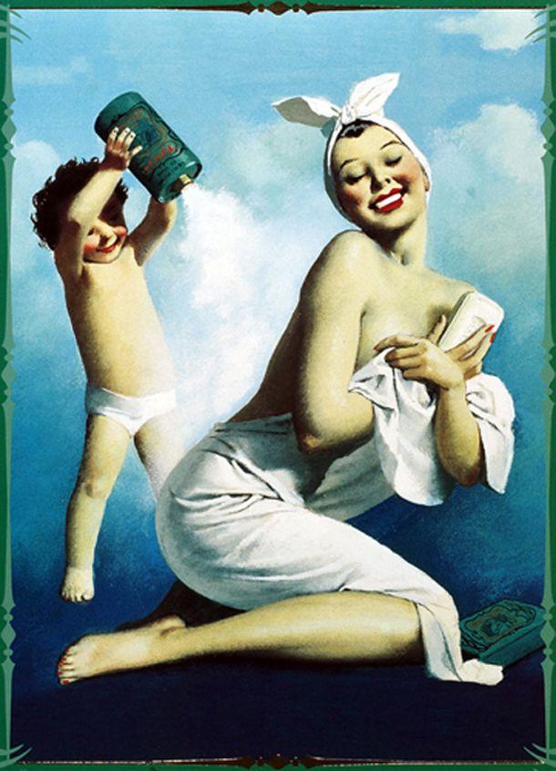 Vintage Italian Posters ~ #illustrator #Italian #vintage #posters ~ Borotalco, Vintage Italian Powder