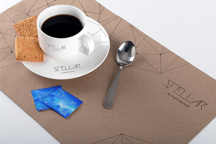 Original Mockups - Coffee Cup and Placemat Mockup 02