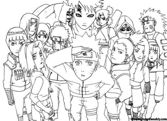 Naruto Coloring Pages Fox Coloring Page Online Coloring Pages Cartoon Coloring Pages