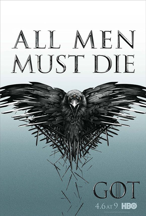 """Game of Thrones ~ Season 4 (2014) ~ """"The three-eyed raven meets the Iron Throne in the new key art for Season 4 of 'Game of Thrones.'"""