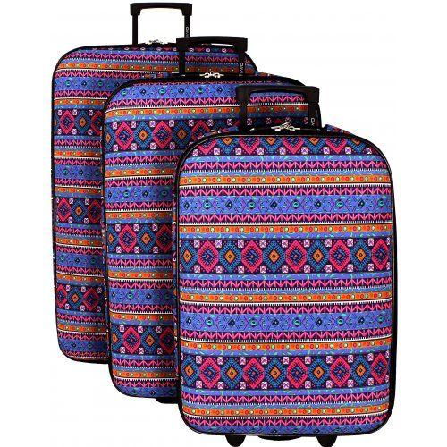 Lot 3 valises dont 1 Valise Cabine RYANAIR David Jones - BA10103 - Couleur principale : A417 - valise pas cher Promotion - bleucerise.com