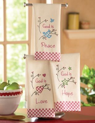 Country Inspirational Kitchen Hand Towels