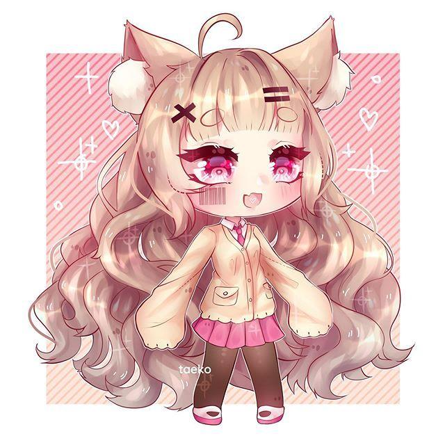 Gaaaaaahhhhh Gachataeko Foto Dan Video Instagram Cute Anime Chibi Anime Wolf Girl Cute Kawaii Drawings