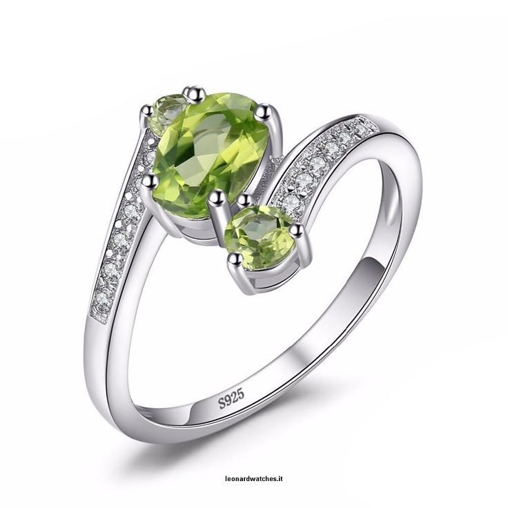 Solid 3 Stones Natural Peridot Ring  Vendor:  Leonardwatches          Type:            Price:              48.66                           Main Stone:  Peridot    Metals Type:  Silver    Occasion:  Engagement    Setting Type:  Prong Setting    Metal Stamp:  925,Sterling    Shape\pattern:  Oval  https://www.leonardwatches.it/products/solid-3-stones-natural-peridot-ring