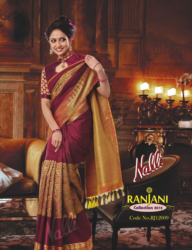 Product code RJ12009 - Be the objects of envy,love and rivalry in this zari 'Mango' embellished saree.