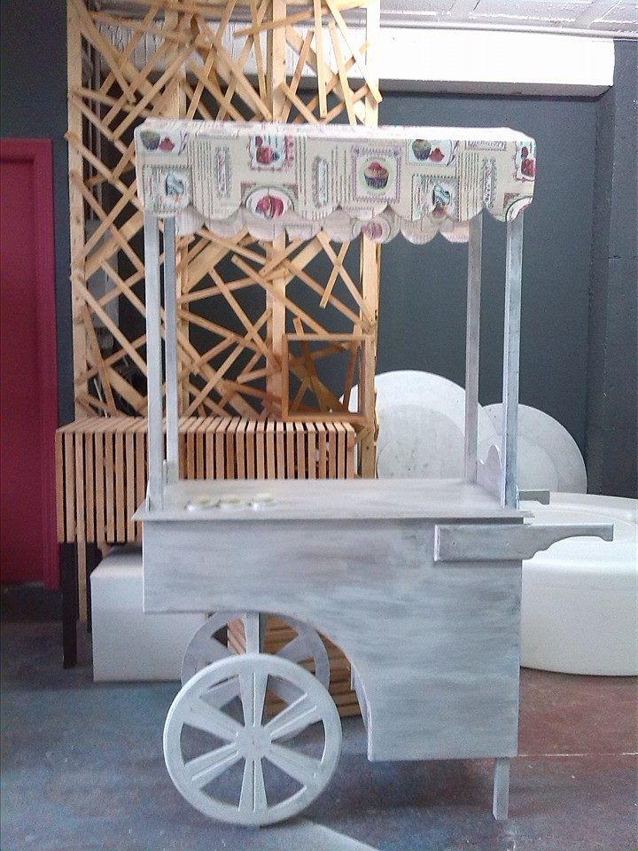 Carrito chuches o helados para boda o comuni n estilo - Como hacer un carrito de chuches paso a paso ...