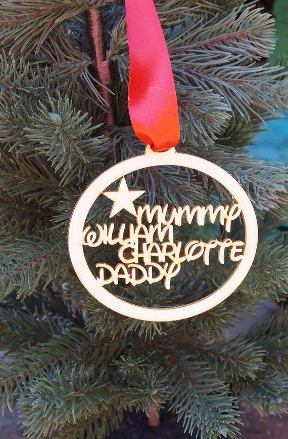 Personalised Christmas Decoration Christmas Bauble Christmas Etsy Personalised Christmas Decorations Personalized Christmas Gifts Christmas Tree Decorations