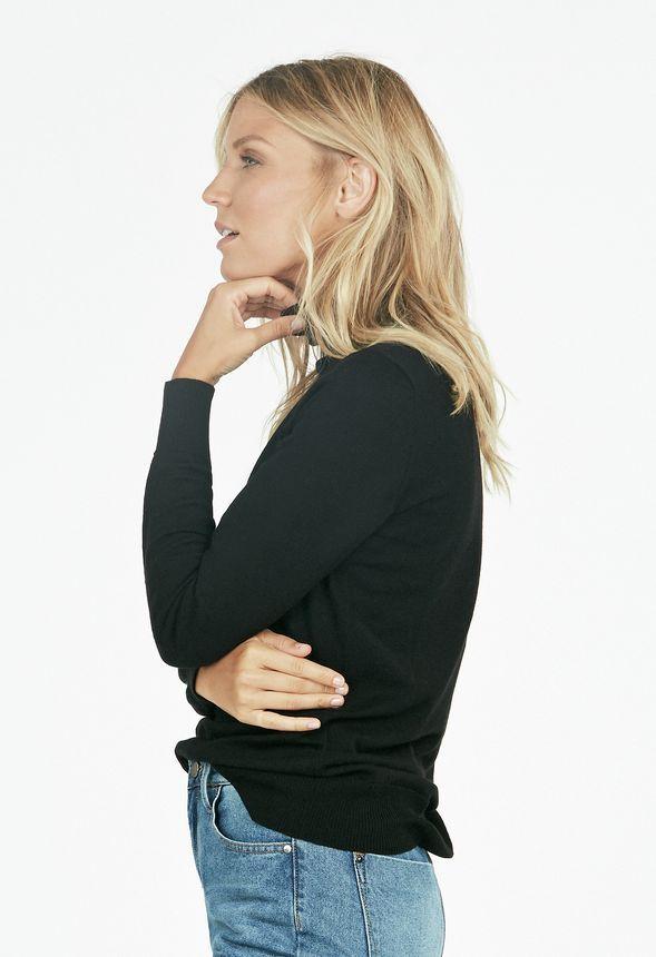 Turtleneck Sweater Kleidung in Schwarz - günstig kaufen bei JustFab