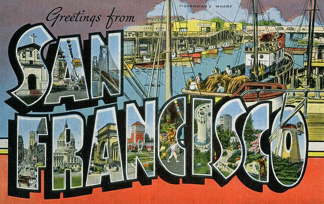 Greetings from San Francisco, California - Large Letter Postcard by Shook Photos, via Flickr