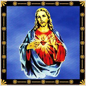Sagrado Coração de Jesus - Quadrinhos confeccionados em Azulejo no tamanho 15x15 cm.Tem um ganchinho no verso para fixar na parede. Inspirados em santos católicos. Para entrar em contato conosco, acesse: www.babadocerto.com.br