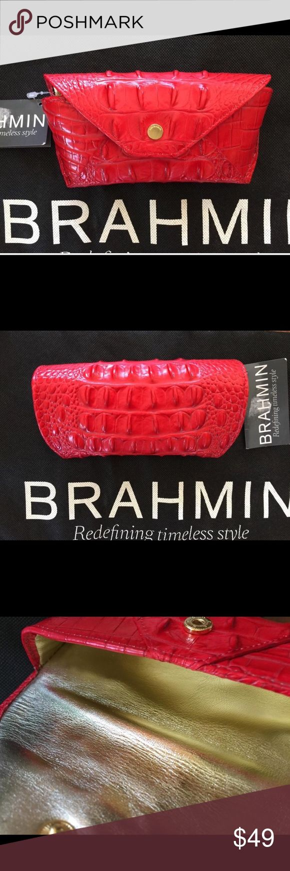 Dragon fruit comes in three colors white pink and red or magenta white -  Brahmin Red Croc Melbourne Eyeglass Case Nwt Beautiful Red Dragon Fruit Croc Melbourne