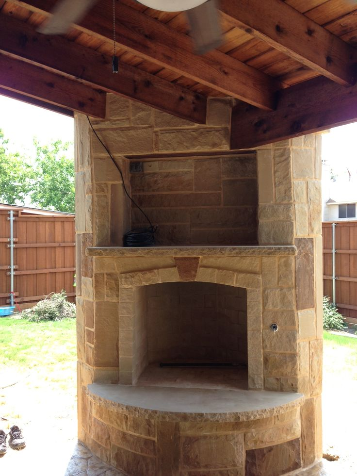 Custom Outdoor Oklahoma Stone Fireplace Oklahoma Stone Fireplace Pinterest Stone