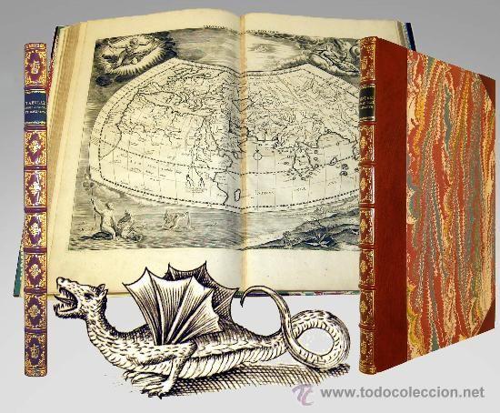 LIBRO COSMOGRAFIA DE PTOLOMEO (1730) / Libros antiguos en todocoleccion