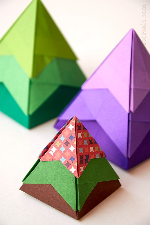 Christmas Tree Origami Box Origami Tutorials In 2020 Origami Box Origami Christmas Tree Christmas Origami