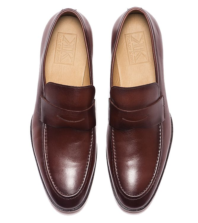 Mens Rush Dress Loafers - Mens Rush Cognac Formal Loafers