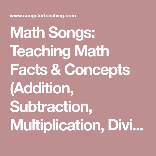 Math Songs: Teaching Math Facts & Concepts (Addition, Subtraction, Multiplication, Division, Advanced Math, Algebra, and Geometry)