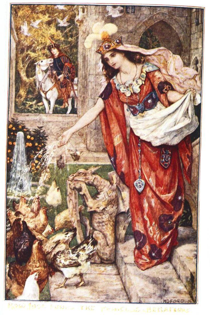 Juvenile - Book illustration - Fairy Tale - How Jose found the princess Bella Flor 1906