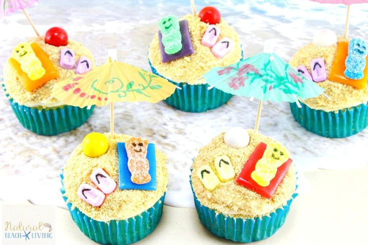 Mermaid Cupcakes are gorgeous cupcakes inspired by the ocean and the magic of mermaids! Tropical coconut cupcakes are decorated with toasted coconut