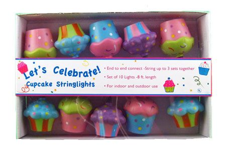 Whimsical Cupcake Lights Make Great Birthday Party Decorations