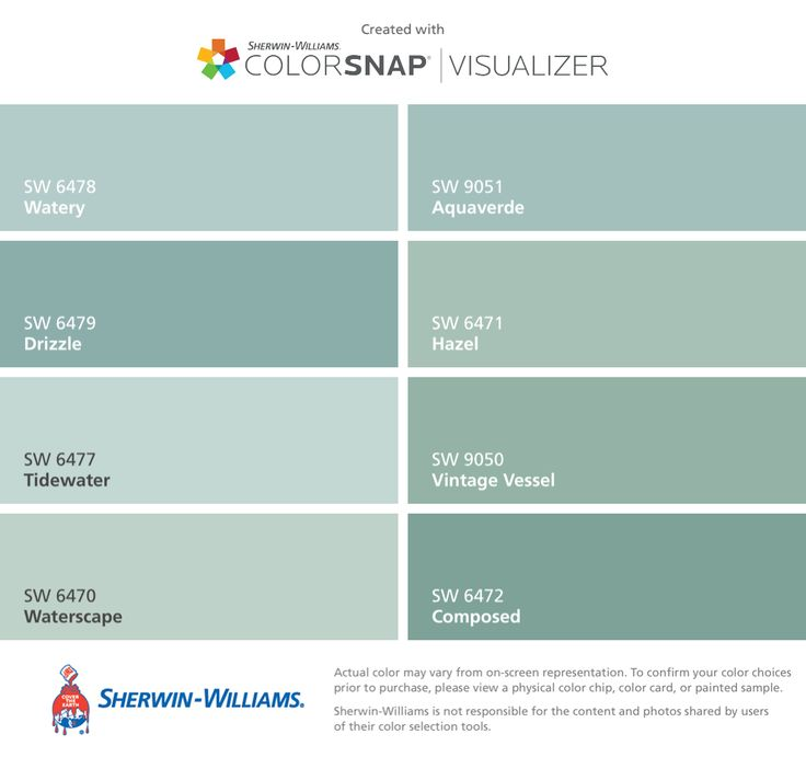 I found these colors with colorsnap visualizer for iphone for Watery paint color