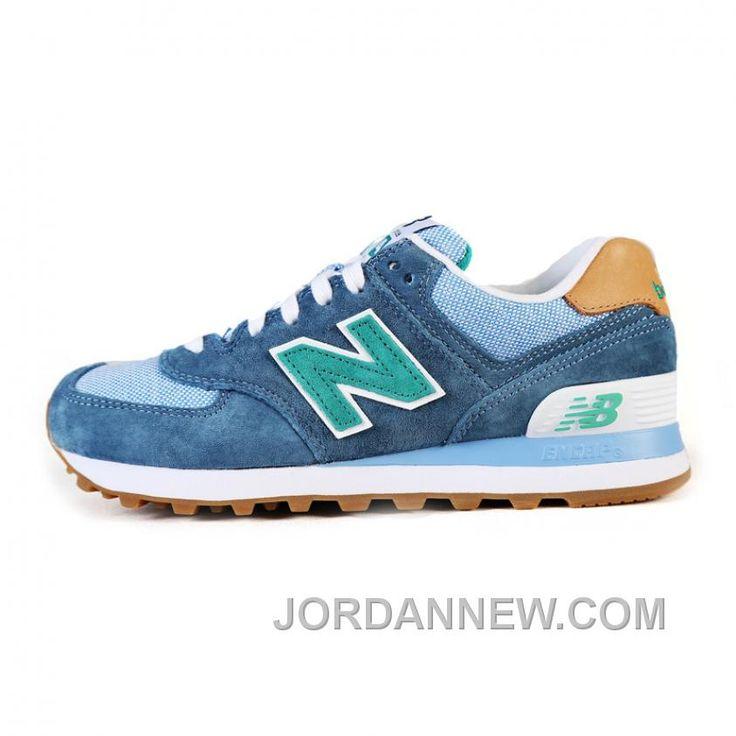 new balance 574 azzurre