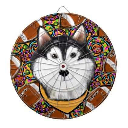 Fathers Day Alaskan Malamute Dartboard With Darts - fathers day best dad diy gift idea cyo personalize father family