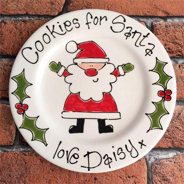 Personalised Cookies For Santa Gift Plate 20cm Plate