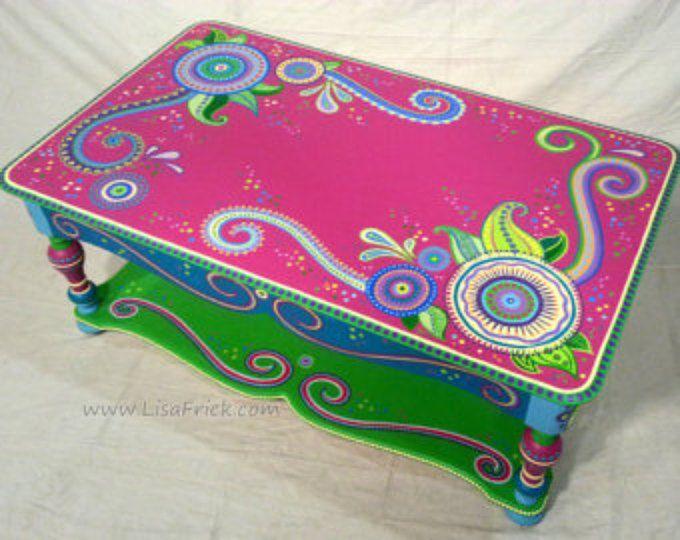 Hand Bemalte Möbel Nach Maß Zu Bestellen, Custom Bemalte Möbel, Beispiel  Von Hand Bemalte