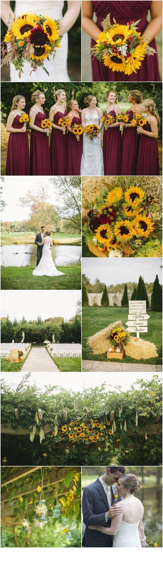 sunflower wedding theme ideas / http://www.himisspuff.com/country-sunflower-wedding-ideas/