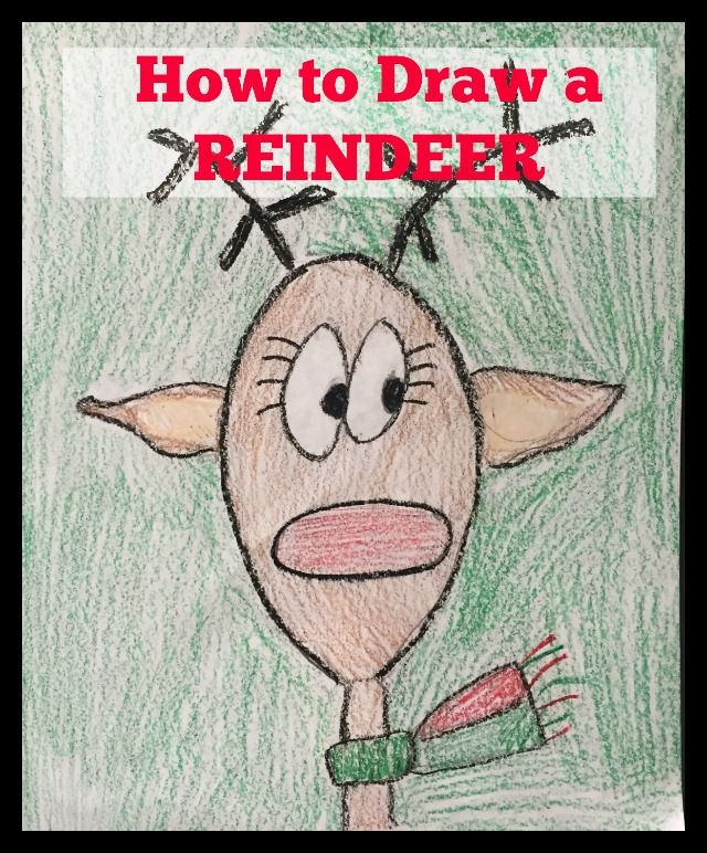 How to Draw a Reindeer (with printable directions). This is someone everyone can do - age 4 - 99! They all turn out looking adorable.