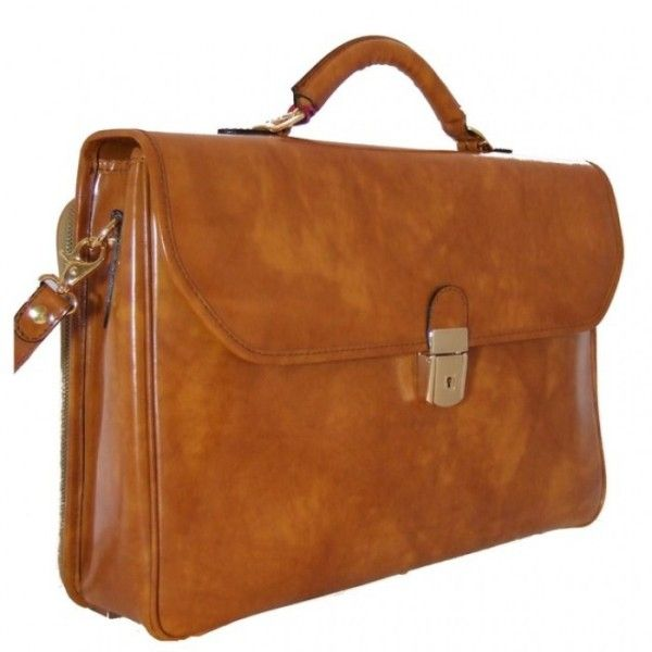 Деловая кожаная сумка pratesi Piccolomini-604-1 рыжая 659,00 €